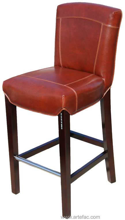 Rv 315 Exquisite Leather Bar Counter Stool In Cognac