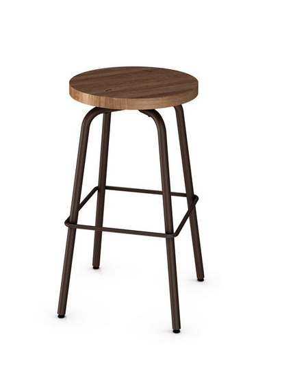 More Custom Made In Canada Backless Swivel Stool W