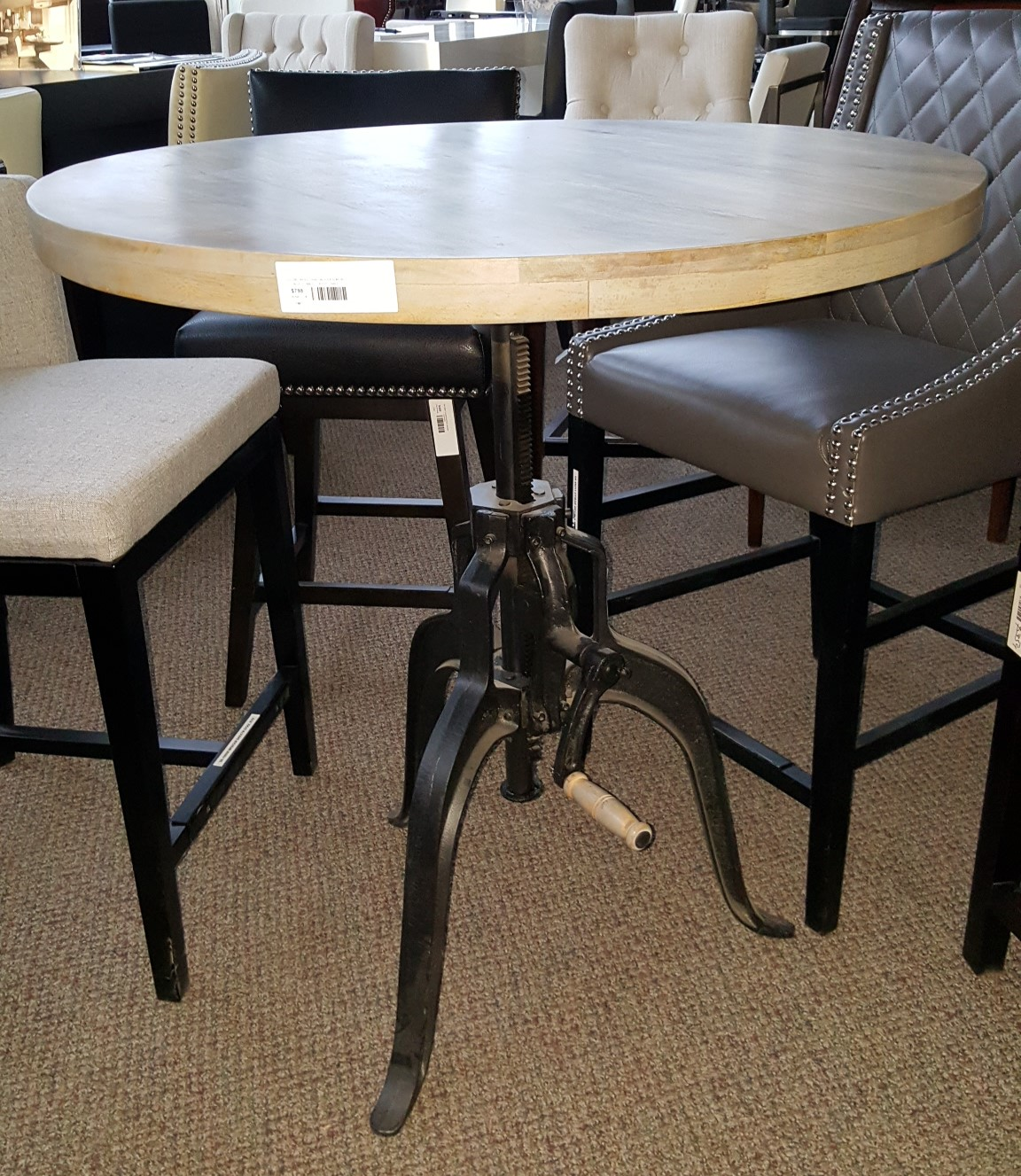 Vintage Industrial Furniture Industrial Crank Table