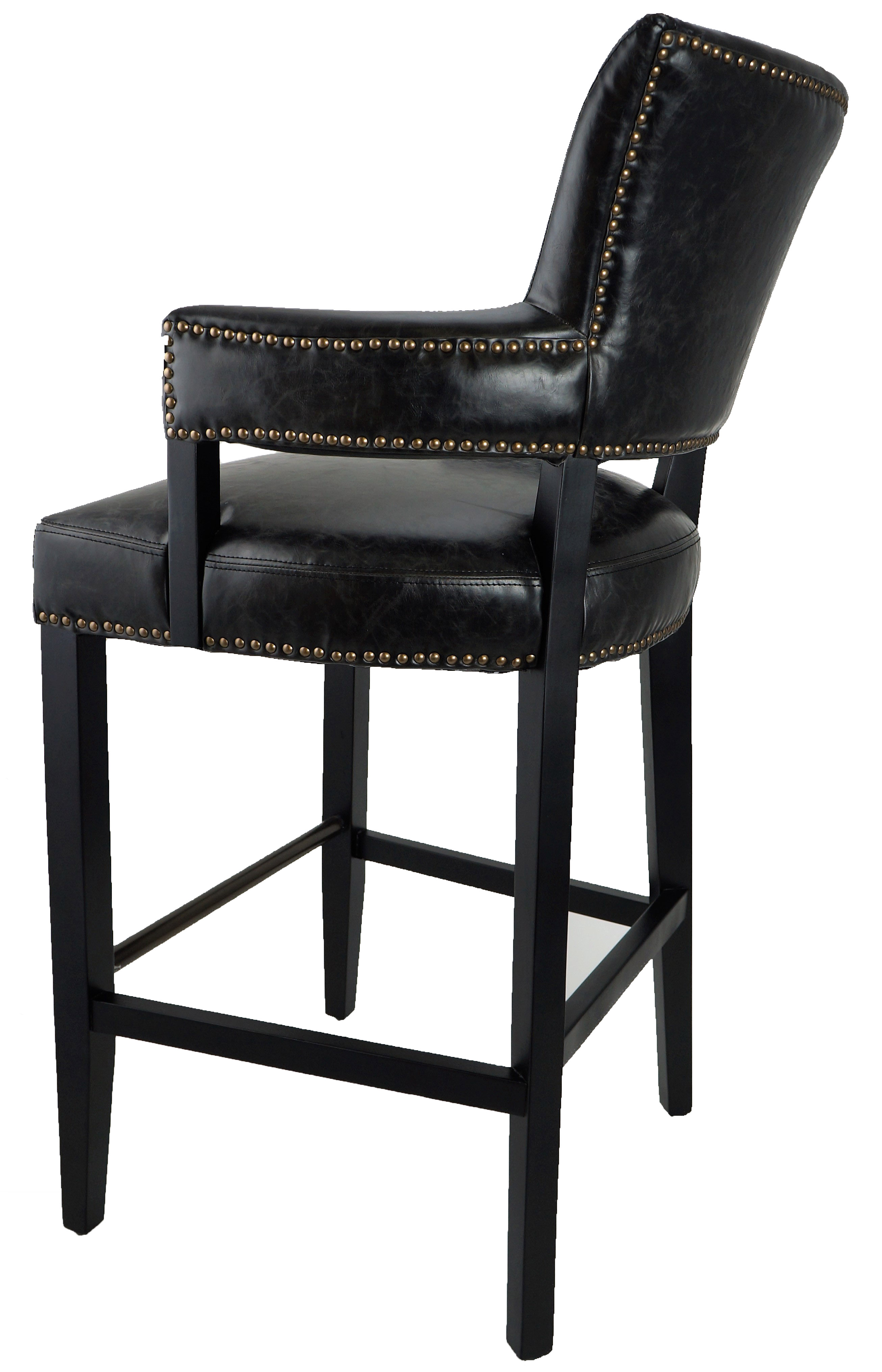 More Clearance Black Majestic Arm Bar Stool Only 1
