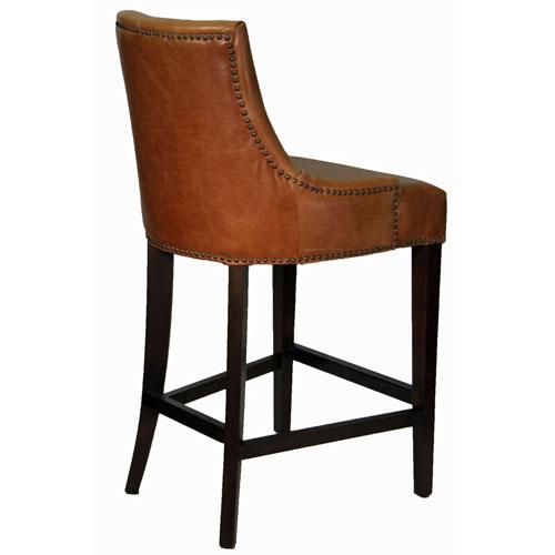 stools bar stools antique brown top grain leather counter stool artefac. Black Bedroom Furniture Sets. Home Design Ideas