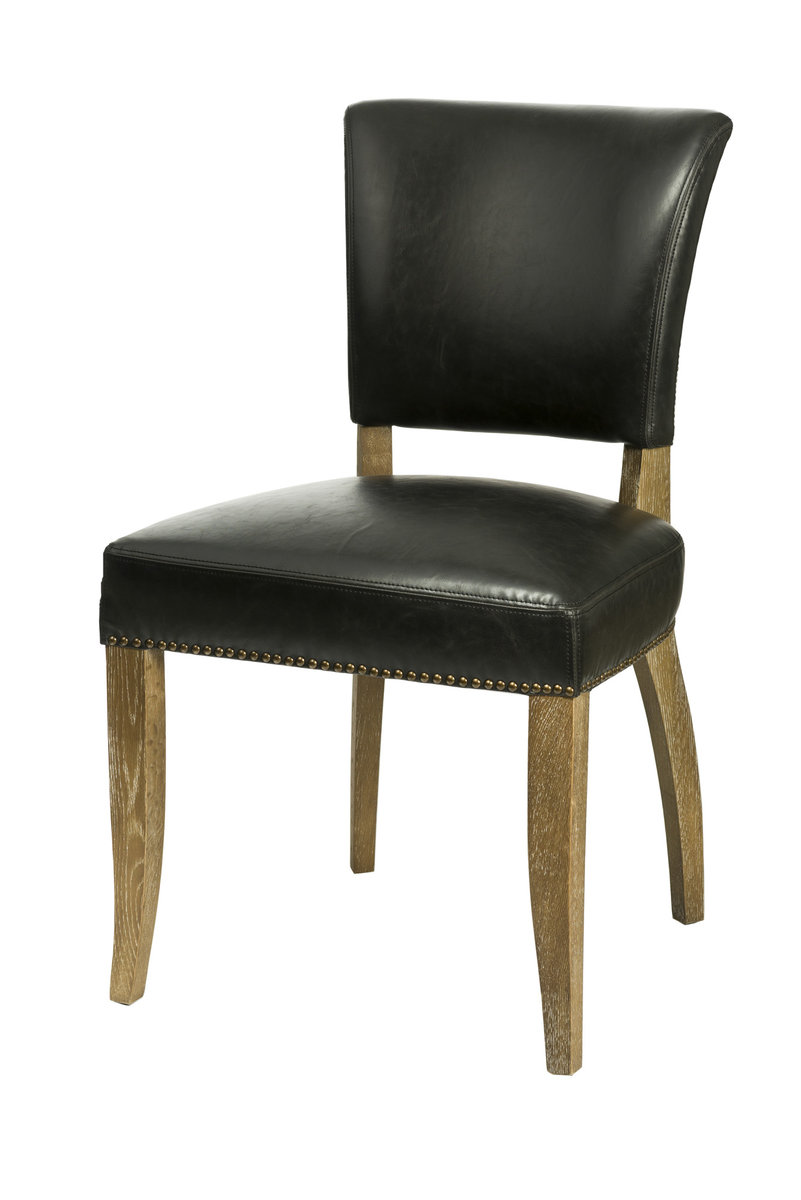Dining Kitchen Chairs Sl 002 Black Bicast Leather