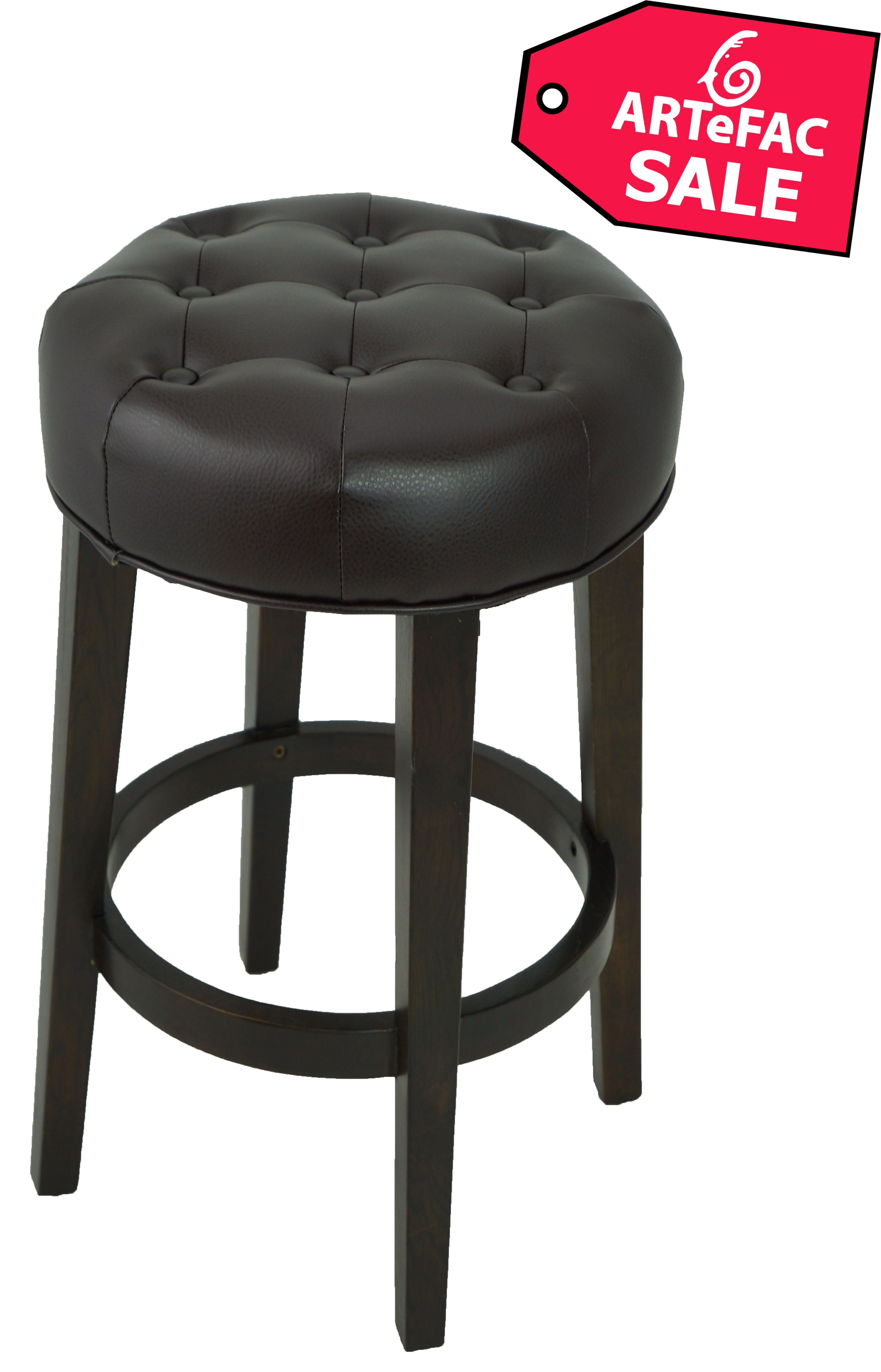 Stools Bar Stools Tufted Backless Counter Stool In