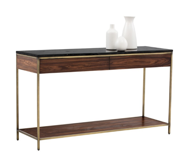 Black Marble Coffee Table Canada: Tables :: SR-101783 Console Table W/ Black Marble Top
