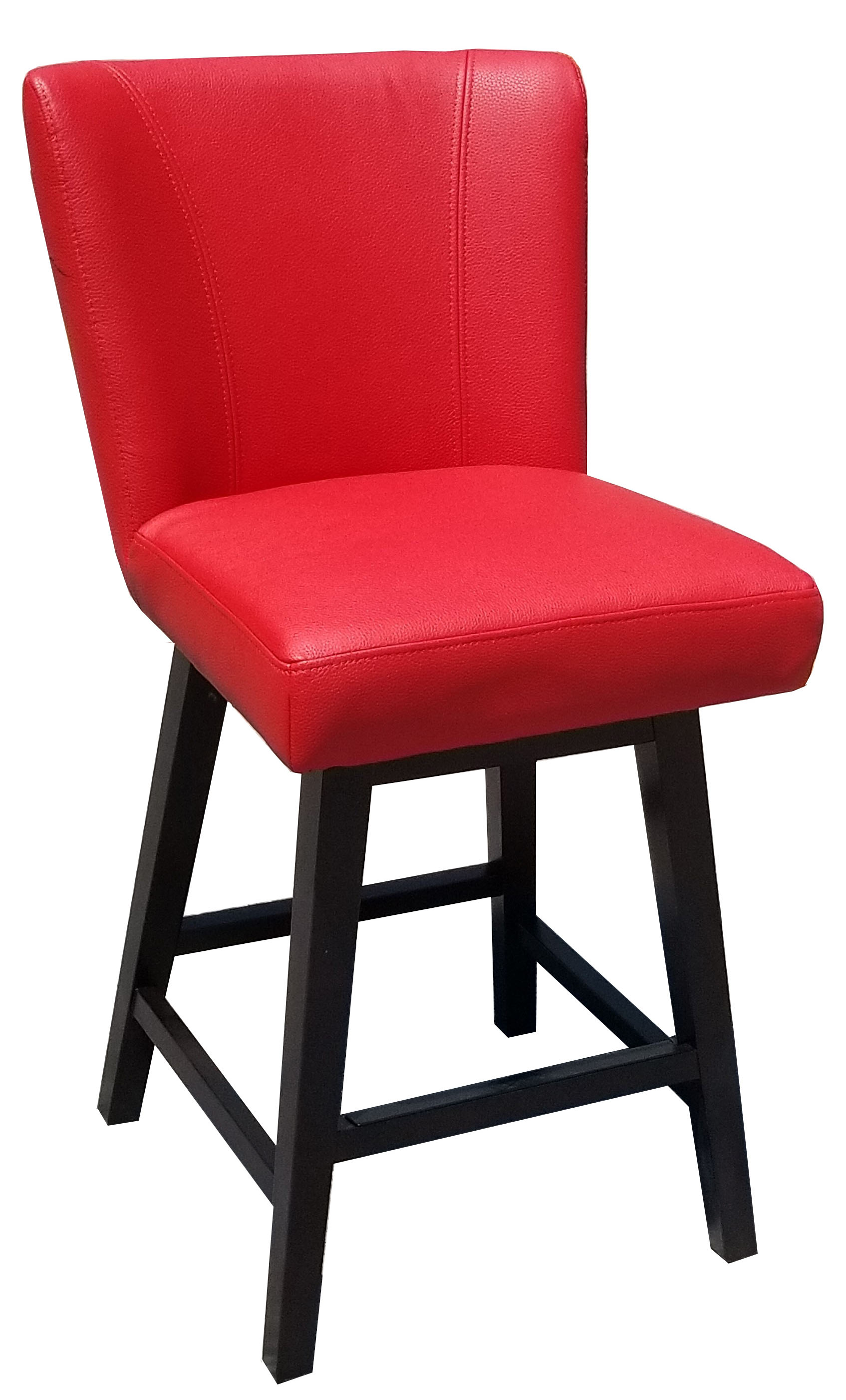 Pleasant Lipstick Red Leather Swivel Counter Stool Unemploymentrelief Wooden Chair Designs For Living Room Unemploymentrelieforg