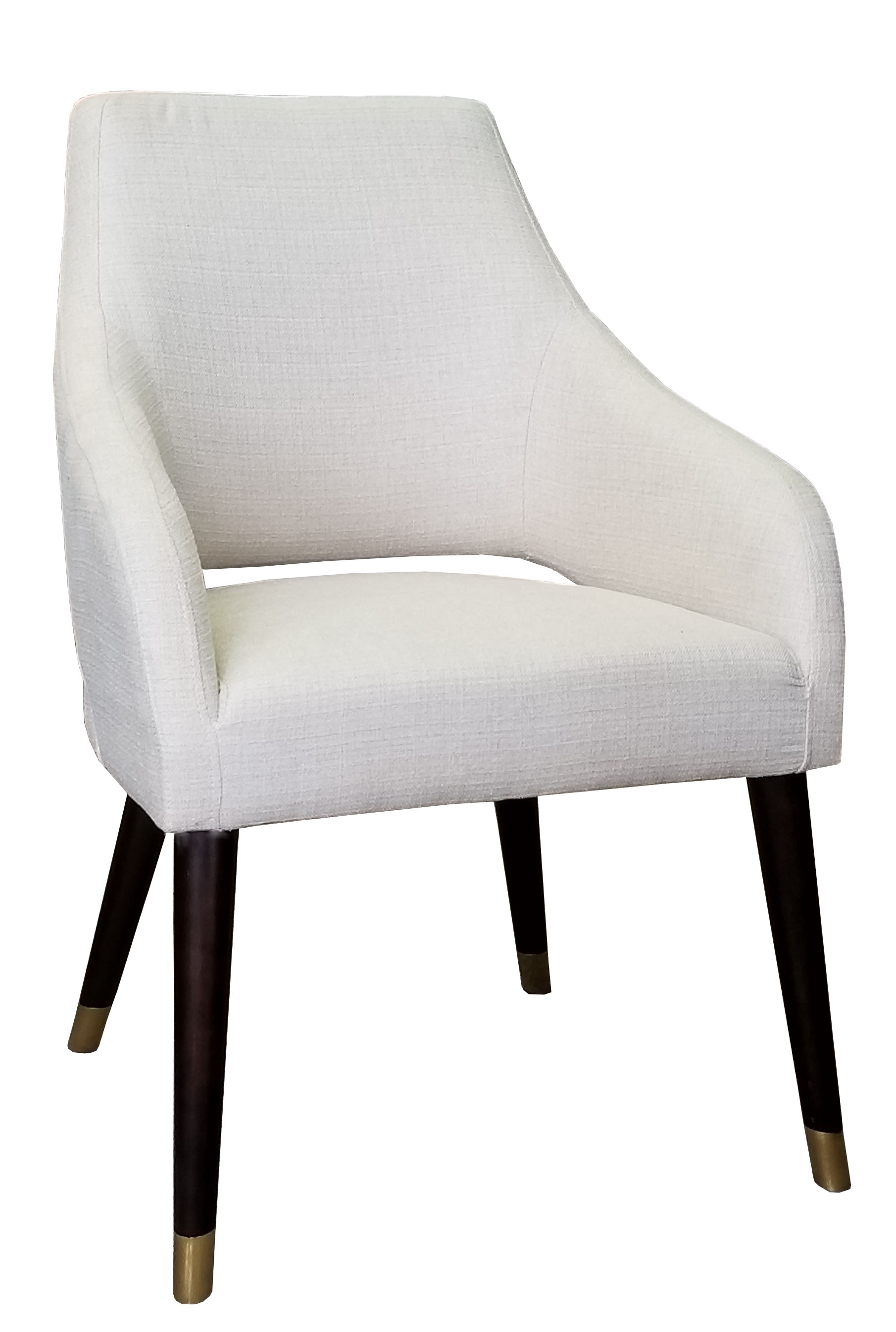 Chairs Dining Chairs Off White Fabric Dining Arm