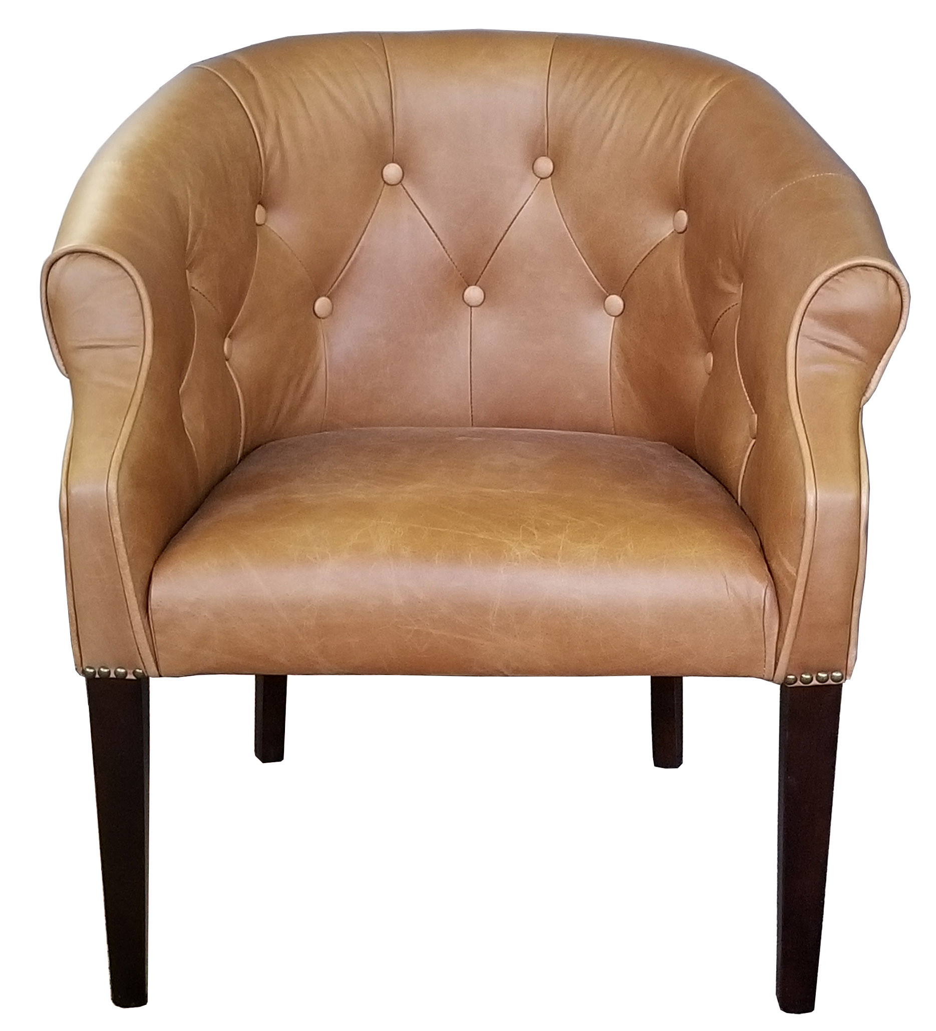 Chairs :: Armchairs :: Leather Tub Chair in Genuine Top Grain ...