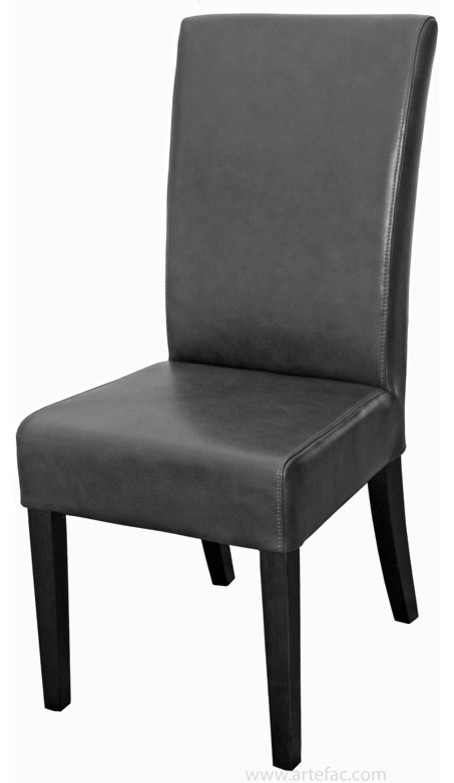 Chairs Dining Chairs High Back Grey Leather Dining
