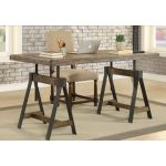 KR-91756 Distressed Brown Adjustable Desk/Dining Table