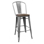 RE-1103 Wooden Stool With Back