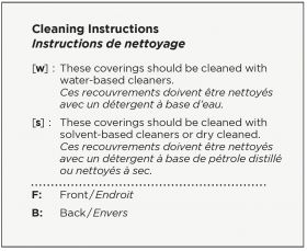 FABRIC, POLY, & PVC CLEANING INSTRUCTIONS