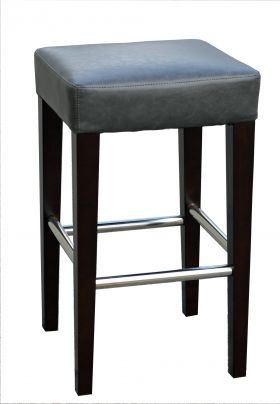 R-1810 Backless Leather Counter Stool in Grey or Brown