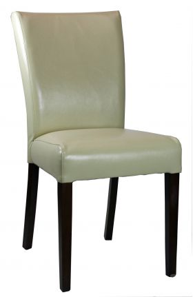 Cream Low Back fabric Dining Room Chair in Neutral Linen R-3260